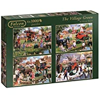 Falcon de luxe The Village Green Jigsaw Puzzles in one Box (4 x 1000-Piece)