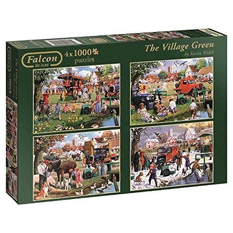 Falcon de luxe The Village Green Jigsaw Puzzles in one Box (4 x 1000-Piece)