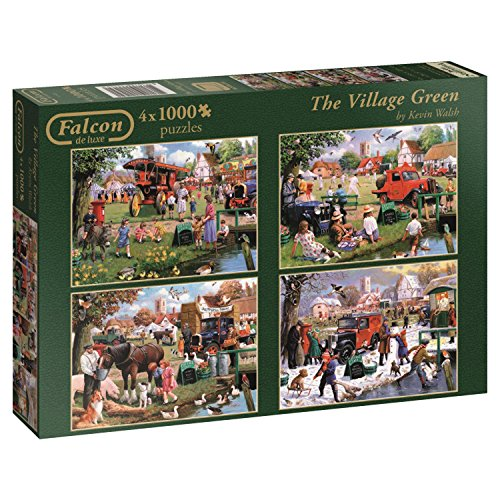 Standard-möbel-poster (Falcon de luxe The Village Green-Puzzle in einer Box (4 x 1000 Teile))