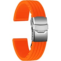 Ullchro Cinturini Orologi Impermeabile Orologi Bracciale Donna Uomo Stripe Pattern - 16mm, 18mm, 20mm, 22mm, 24mm Gomma…