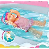 Muñeca de natación interactiva con función de nado, juguete de agua para la bañera