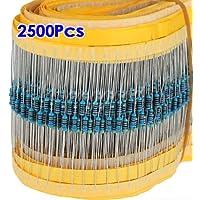 SODIAL (R) 2500pz 50 Valori 1 / 4W 0.25W 5%