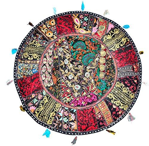 Brilliant Sophia Art Round Floor Pillow Cushion Bohemian Patchwork Pouf Ottoman Vintage Indian Foot Stool Bean Bag Floor Pillow Cover Home Decor Living Room Creativecarmelina Interior Chair Design Creativecarmelinacom