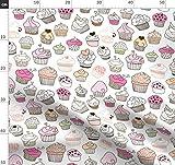 Kochen, Cupcakes, Gekritzel, Süßigkeiten, Süß, Cupcake,
