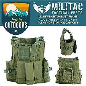 Militac Delta - Veste tactiqueGilet pour airsoft/paintball/combat/assaut avec poches pour chargeur.
