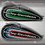 ADESIVI DECAL STICKERS DA SERBATOIO HARLEY DAVIDSON SOFTAIL MOTO CUSTOM