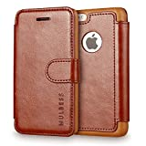 Coque iPhone 5c,Mulbess [Credit Card Slot Vintage Series] Housse Etui en cuir Avec...