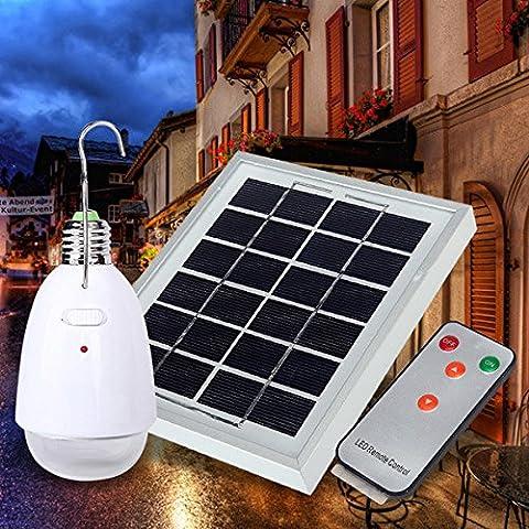 Bazaar Télécommande Contorl 4 en 1 de l'énergie solaire 12 White LED Ampoule Jardin Balcon Outdoor Emergency Light