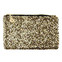 JJOnlineStore - Womens Ladies Stylish Shiny Celebrity Style Beaded Crystal Party Wedding Evening Hand Clutch Bags (Gold)