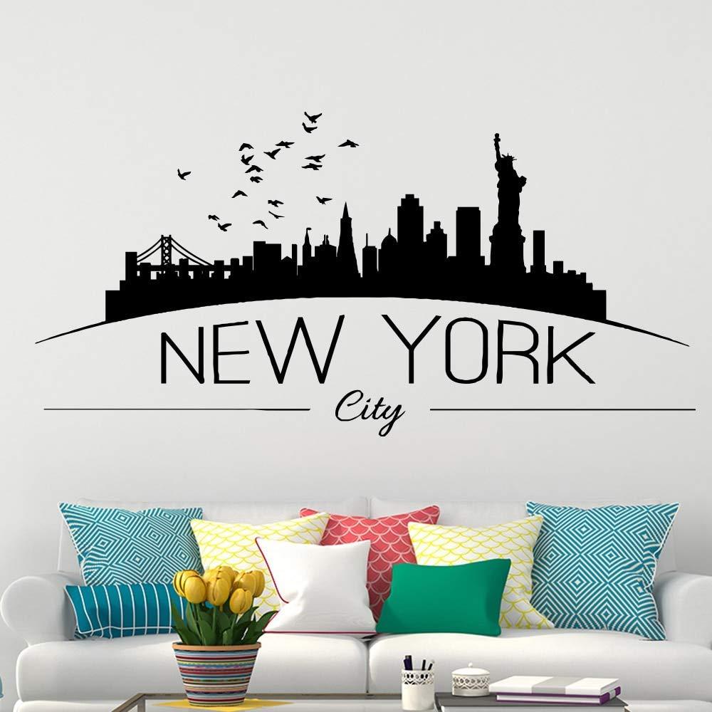 New York Stickers Muraux Chambre Accessoires Décoration De La Maison Pour Le Salon Vinyle Autocollant Décor à La Maison Papier Peint 43 87 Cm