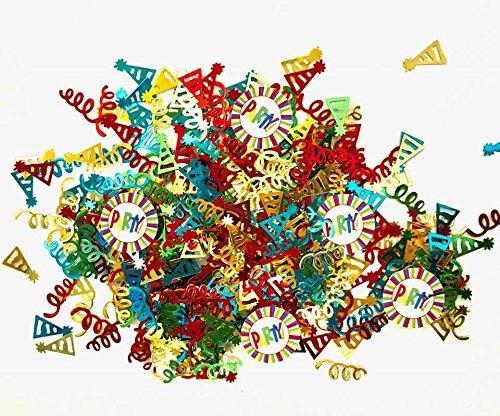 t's Party Konfetti, Bedruckt, Metallic-Folie, 28 g, mit Party-Papierausschnitten ()