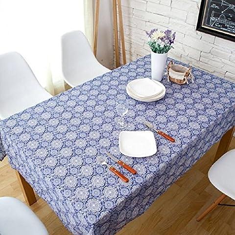 Z&N Coton Lin Nappes De Luxe Nappes à Café TéLéViseurs Tables De Chevet Nappes Tops De Table MultifonctionnelsA140*140cm