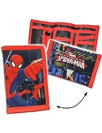 """Geldbörse - """" ultimate Spider-Man """" - Geldbeutel & Portemonnaie - für Kinder - Geld - Jungen - Geldtasche Geld - Spiderman - Kindergeldbörse Spinne / Brustbeutel - für Schule & Schulranzen"""