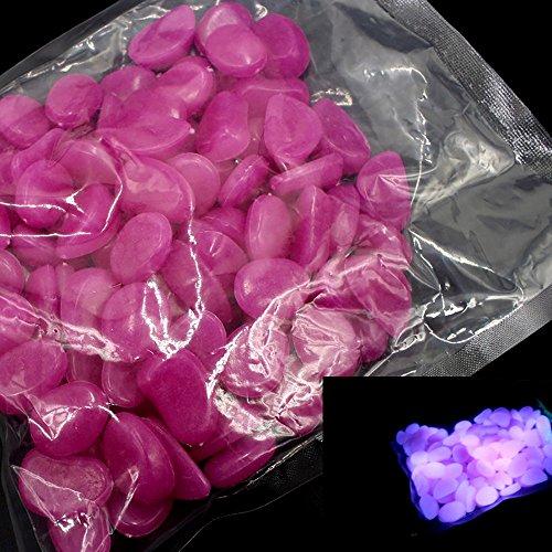 Berrose Leuchtende Terrazzo-Leuchtstein-Aquariumdekoration 100PCS im Dunkeln leuchten Stein leuchtenden Meer Aquarium Aquarium Decor