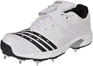 Sports CS-765 White Cricket Shoes Spikes