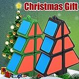 Gaddrt Smart Cube Spielzeug Zauberwürfel 1X2X3 Weihnachtsbaumwürfel Puzzle Ultra-Smooth Magic Puzzle 5.6x2.0x7.2cm (Schwarz)