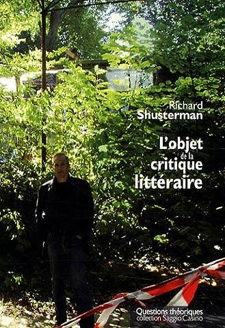 L'objet de la critique littéraire
