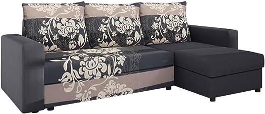 Sofa Eckcouch Couch! Mit Schlaffunktion Und Zwei Bettkasten! Ottomane