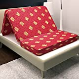 Story@Home 4-inch Single Size Foam Mattress (Maroon, 72x35x4)