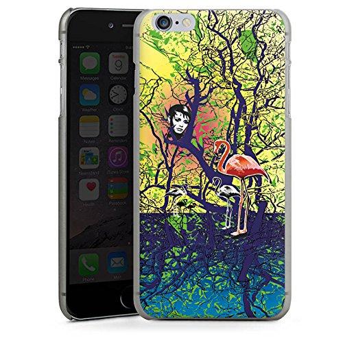 Apple iPhone X Silikon Hülle Case Schutzhülle Flamingo Wald Zaubern Hard Case anthrazit-klar