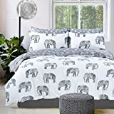 Elephant Grey Reversible Duvet Quilt Cover + PillowCases (King) By Pieridae