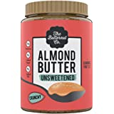 The Butternut Co. Almond Butter Unsweetened, Crunchy 1KG (No Added Sugar, Vegan, High Protein, Keto)