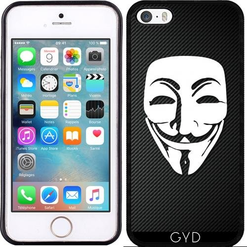 Hülle für Iphone SE - Anonymous Kohlefaser by Spycker