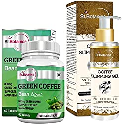 StBotanica Green Coffee Bean Extract 800mg 60 Tablets + Coffee 4D Slimming Cream