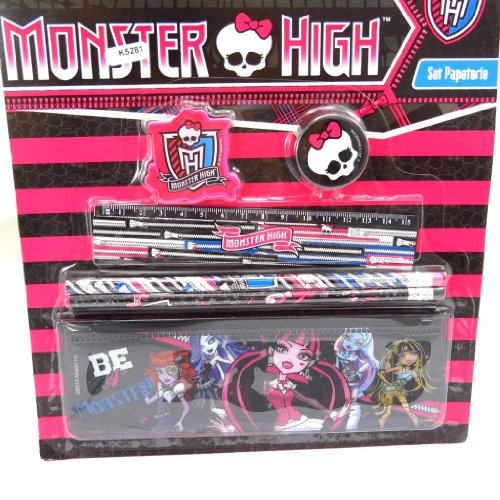Monster High [K5281] - Briefpapier-set 'Monster High' schwarze rose (6 stück).