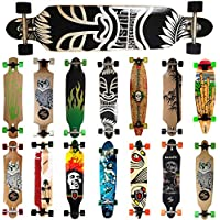 MAXOfit® Deluxe Cruiser Longboard | Komplettboard mit ABEC-11 Kugellagern | Drop-Through bis 107 cm