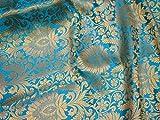 Indischer Banarasi Brokat-Stoff für Kleider und Kostüme,