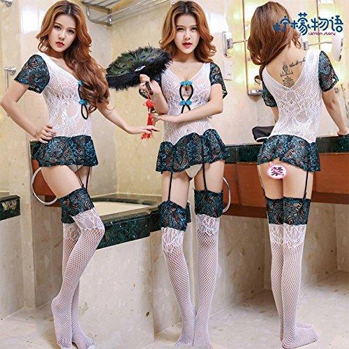 Roleeplay Extreme Versuchung Gaze Strumpfband Anzug Dessous Perspektive Peacock Sexy Spitze Stickerei Brust Kostüm Sm, Alle 90 Pfund [130 Pfund], Body Strumpfband Net (Kostüme Girl Peacock)