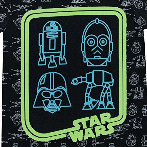 61d8udnouOL - STAR WARS - Camiseta para niño - Brilla en la Oscuridad - 7-8 Años