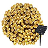 Solar Powered String Lights 72FT 200LEDs Solar Starry Decorative Lighting Waterproof Christmas Fairy String Lights for indoor/Outdoor Gardens Path Homes Wedding Party Decor-(Warm White)
