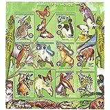 Los animales de la gran naturaleza cobrable mundo y hoja de sellos de la fauna que ofrece aves, mamíferos, reptiles e insectos / 12 sellos / Madagascar
