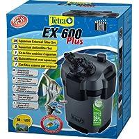 Tetra Filtre Extérieur EX 600 Plus Poissons eau douce tropicale/Poissons eau froide/Poissons eau salée, Gris