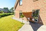 Outent® Sonnensegel 3,6 x 3,6 x 3,6m wasserabweisend Sonnenschutz UV-Schutz beige - 4