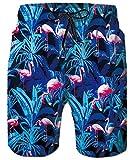 TUONROAD Costume Da Mare Uomo,Blu scuroStampa Pantaloncini Da Bagno Uomo,Asciugatura Veloce Pantaloncini Sportivi Da Bagno Mare Nuoto Spiaggia