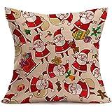 TOOGOO 43X43cm Vintage Navidad dibujos animados Sofa cama hogar decoracion almohada Festival caso de colchon (