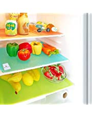 Kuber Industriestm Pvc Refrigerator Drawer Mats / Fridge Mats Set Of 6 Pcs Multi Color