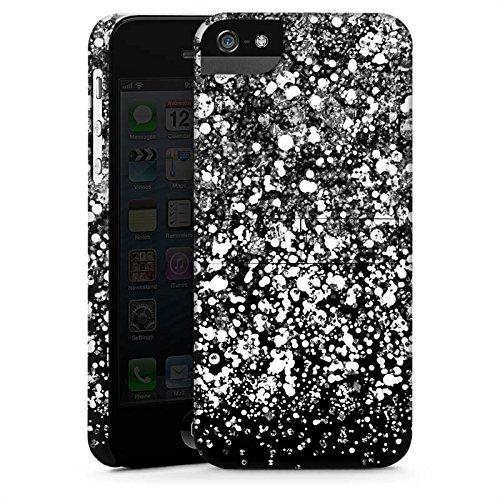 Apple iPhone X Silikon Hülle Case Schutzhülle Glitzer Look Schnee Pattern Premium Case StandUp