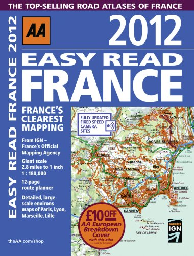 Easy Read France 2012 (AAA France Road Atlas)