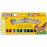 PlayColor 10731 Básica de un cartel sólido Pintura de pintura, colores surtidos, Paquete de 12