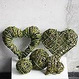 passendes 5er Set Dekoration fein und grob leichtes grün Weidenkranz