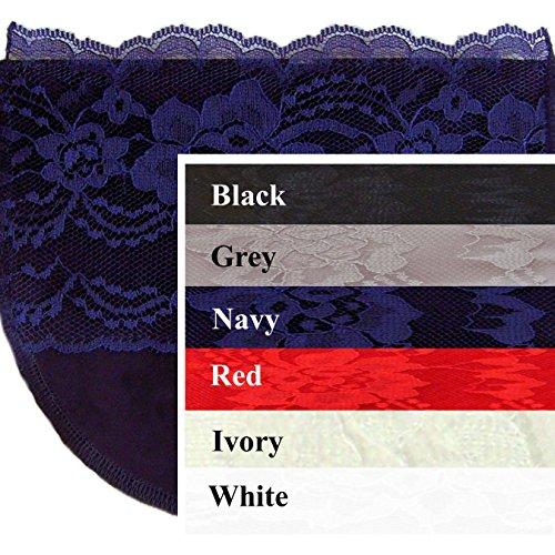 6 Modesty Panels Weiches Poly mit Breit Lace Chemisetten von Anne Größen Sz E/xx (Camisole Poly)