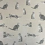 Classic Tiere Katzen Design Baumwolle Rich Leinen Look