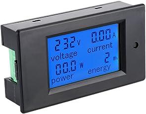 KKmoon Multifunktions Messgerät AC 80-260V 100A Digital LCD Leistungsmesser 【Energiekostenmessgerät/ Stromspannung Prüfer/ Amperemeter/ Voltmeter】