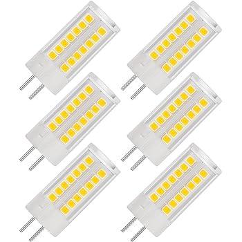 LOHAS® G4 Bombilla de LED de 5 Vatios, 400lm, 3000K Blanco Cálido, Recambio de 40 Vatios, Ángulo de Haz de 360°, 12V AC/DC, No Regulable - Pack de 6