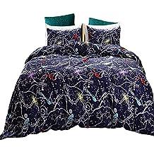 Black Temptation Inicio Impreso Lujo Soft Hotel Duvet Cover Set 2PC Twin Size #149
