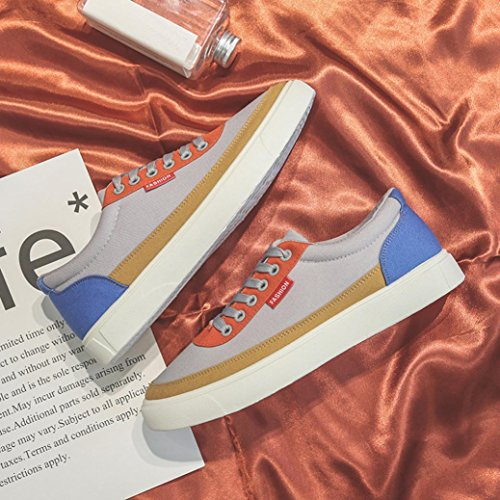 Sneakers, ASHOP Scarpa Sneaker, Scarpe Casual da Uomo Primavera Patchwork Scarpe Casual Stringate Sportive Grigio